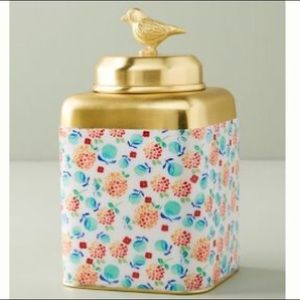 NIB Anthropologie Floral Dahlia Pot for Trinkets